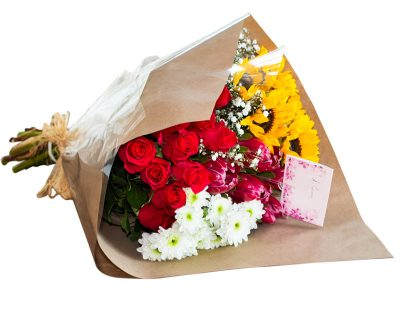 Large Bunch- Sunflower-Roses