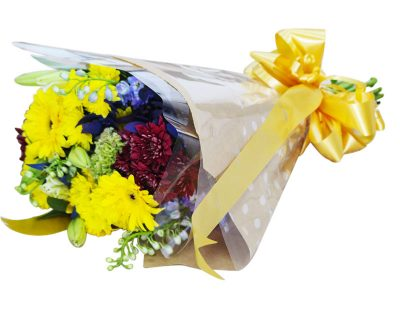 Mixed-Flower-hand tied- colourful-Bouqet