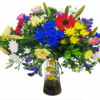 Vase-mixed flower-Large