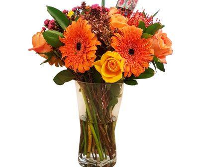 Orange Deligght-Vase arrangement